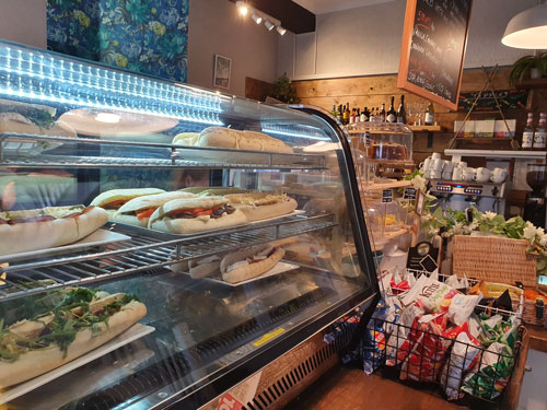rolls, sandwiches and panini selection
